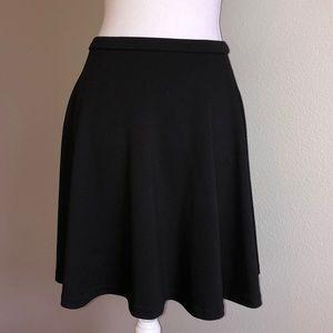 Black stretchy skater skirt